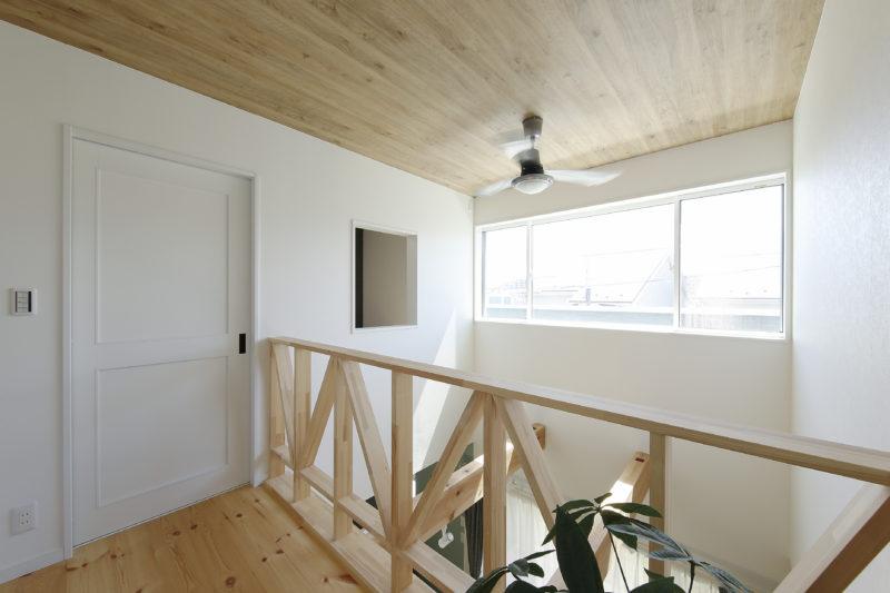 雨でも外でバーベキューができる家の2階